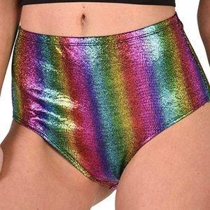 Rainbow high waisted bottoms